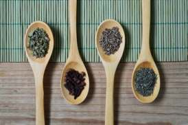 herbs on spoons